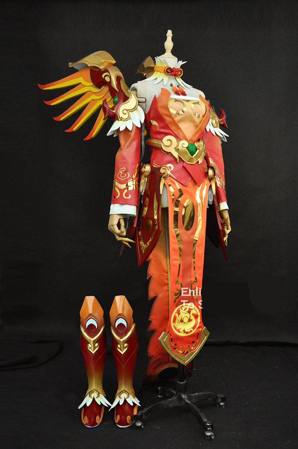 OW Mercy Angela Ziegler Mercy new skin Suzaku mercy cosplay costume custom made/size Full Set mercy outfit and prop 1