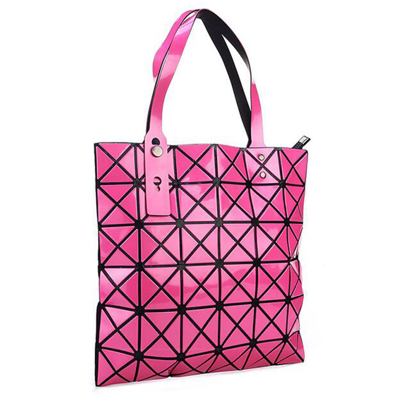 Women Laser Bright BaoBao Tote Lady Geometry Diamond Lattice Sequins Fold  Over Pearl Bao Bao Bag Hologram Designer Handbags Girl-in Top-Handle Bags  from ... 2d52feed10772