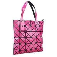 Frauen Laser Helle BaoBao Tote Dame Geometrie Diamantgitter Pailletten Falten Perle Bao Bao Tasche Hologramm Designer Handtaschen Mädchen