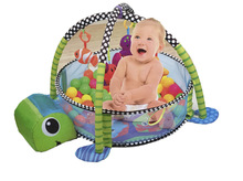 Baby Gym Play Mat, 3 in 1 Baby Activity Gym Play Mat, Baby Activity Musical Play Gym Sensory Floor Mat, with Colorful Balls Perfect for Infants Toddlers Boys and Girls