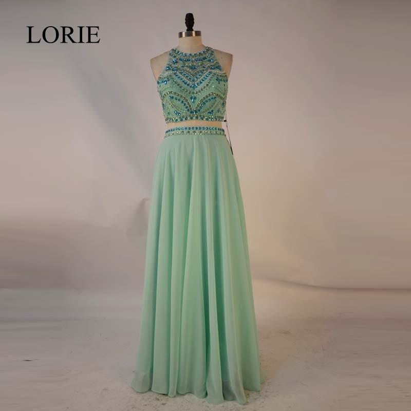 Designer Prom Dresses: Two Piece Prom Dresses Mint Green 2017 New Designer Beaded