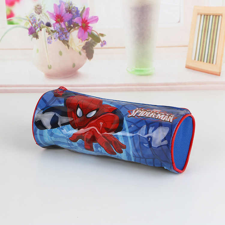Disney Mickey mouse karikatür PVC kalem kutusu yaratıcı öğrenci kırtasiye kutusu çizimli çanta kalem kozmetik paket erkek kız hediye