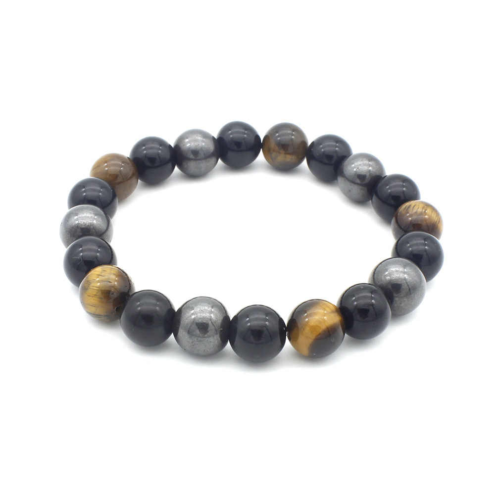 10MM atmospheric huanghu eye obsidian magnetic health bracelet men accessories natural stone jewelry birthday gift