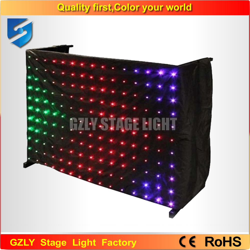 Color booth online - 2m 8m Led Effect Light P18 Led Party Decoration Dmx Stage Lighting Led Video Curtain For Dj Booth
