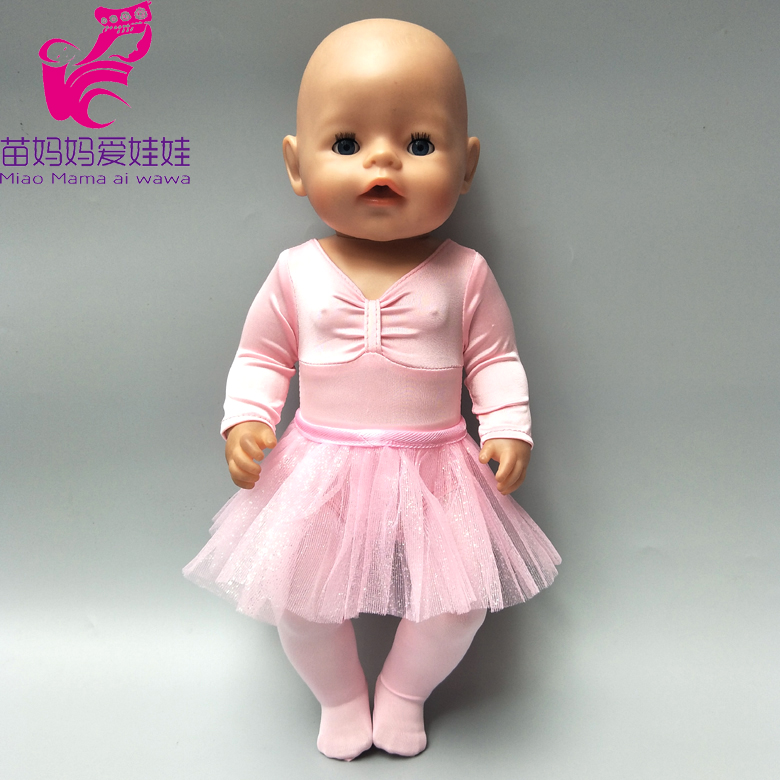43cm born Baby Dolls pink ballet dancing dress clothes set with hat doll pajama set 40cm 17 inch 18 inch doll clothes