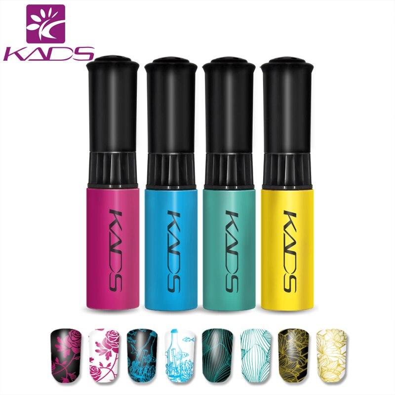 KADS 4pcs/set Nail Stamping Polish Nail Art Stamping Polish Nail Art Manicure Lacquer Beauty Stamping Polish kyser kds500 polish