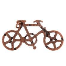 1 Pcs Alloy Bike Lock Puzzle Brain Tester IQ Test Kids Adults Intelligent Toys