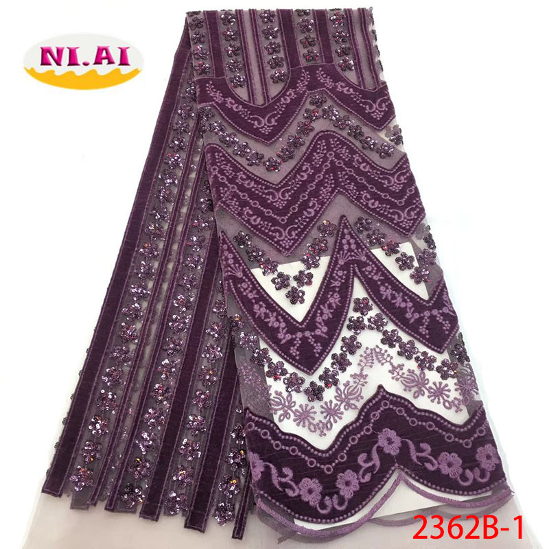 African Lace Fabric 2018 Embroidered Nigerian Velvet Laces Fabric High Quality French Tulle Lace Fabric For