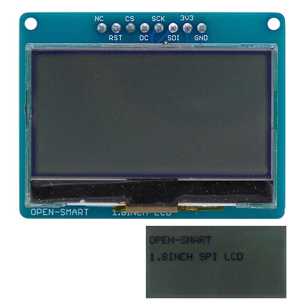 Монохромный экран с ЖК-дисплеем OPEN-SMART 3,3 В 1,8 дюйма 128*64 серийный SPI для Arduino Nano Pro Mini