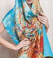 Womens Ladies 100% Silk Scarf Party Wraps Shawl Stole Bow Beach Long Scarves
