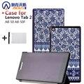 Печатные кожаный чехол чехол для lenovo tab2 A8 качество защитные смарт обложка чехол для lenovo tab 2 A8-50 + фильм + ручка
