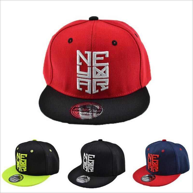... Nueva moda hueso SnapBack CAPS gorra de béisbol bordada plana skate hip  hop sombreros para niño ... 2b48d08f671