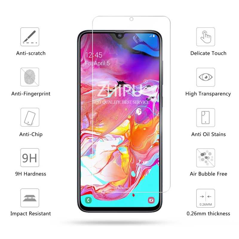 Pokjsofjnjlfkl Phone Products 25 PCS 9H 5D Full Glue Full Screen Tempered Glass Film for Galaxy A40 Screen Protectors for Phone