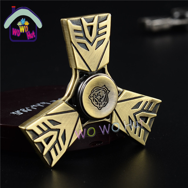 2017 New Three Leaf King Kong EDC Tri-Spinner Pattern Hand Metal Fidget  Spinner and