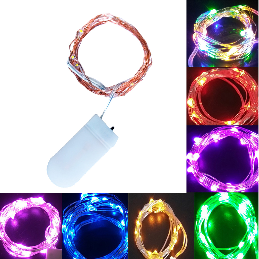 1-5M Fairy Light CR2032 Battery Powered LED Mini Christmas Light Copper Wire String Light For Wedding Xmas Garland Party Indoor