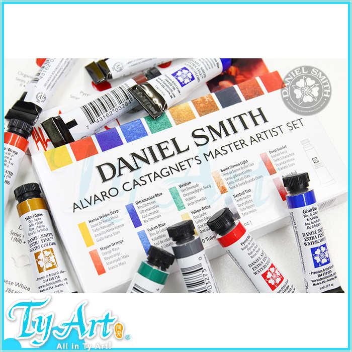 Freeshipping conjunto de 10 colores 5 ml + tarjeta de prueba de pigmento de acuarela de nivel Maestro de Álvaro Smith