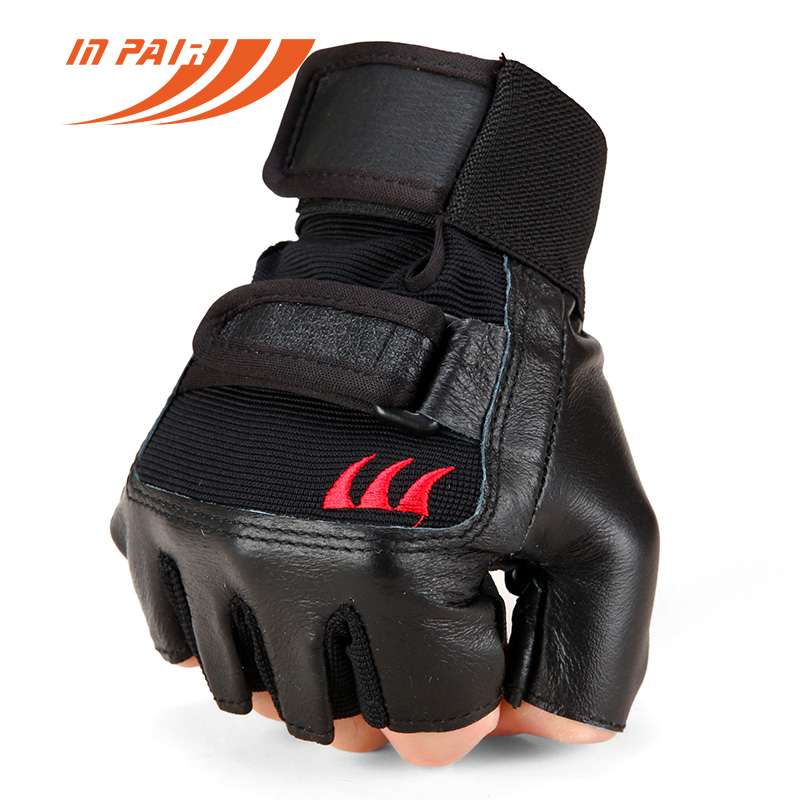 Weight Lifting Gloves Leather Fitness Gym Training Workout: Men Women Gyms Body Building Weight Lifting Leather