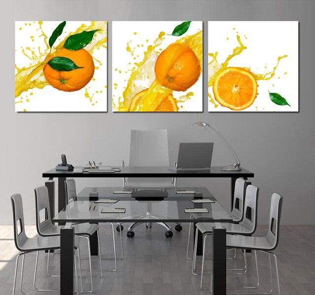 0a0c22625 Laranja tela painel de tela de cozinha para sala quadros de parede  impressão em tela (