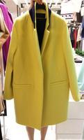 Solid Color Fashion Women Woolen Coats Cocoon Type Turn-down Collar Slim Blend Woolen Outerwears Winter Female Loose Coats2017