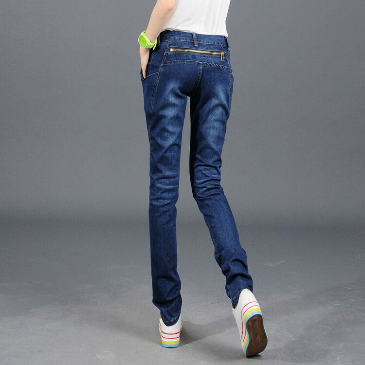 ФОТО  2017 New Women Jeans Summer Basic Styles Vintage Distressed Regular Ripped Stretch Harem Denim Pants Trousers Woman Jeans B326