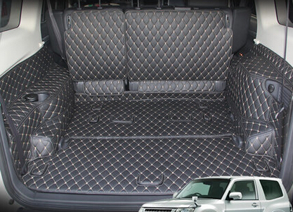 Car Travel Best Special trunk mats for Mitsubishi Pajero 7seats 2016 waterproof durable luggage mats