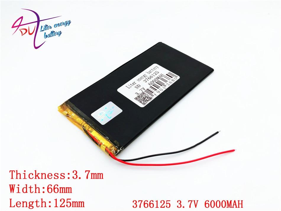 Liter energy battery best battery brand 3766125 Tablet PC battery 3565125 3.7V 6000mAh V811V801 E708 Q1 голубая рубашка