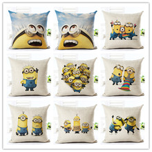 Minions Print Decorative Style Cotton Linen Throw Pillows