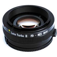 Mitakon Zhongyi Obiettivo Turbo II Focale Riduttore di Velocità Booster Adattatore per Canon FD Lens per Fotocamera Sony E Mount NEX a6000 A6300 A6500