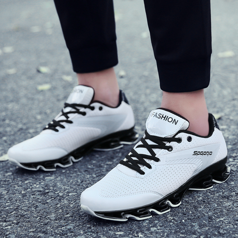 Spring new breathable blade mens sports deodorant adolescents fly mesh spring shock absorbers running shoes