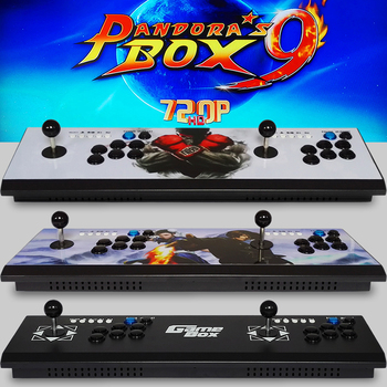 New products Mini arcade bundle machines with jamma game board ,Pandora Box 9 1500 in 1 multi game console 2019 new king of fighters joystick consoles with multi game pcb board 1300 in 1 pandora box 6 arcade joystick game console