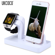 UKCOCO 2 In 1 Aluminium Watch Charging Dock Station Desktop Stand Holder Bracket Accessories For iPhone For Apple Watch