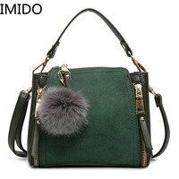 IMIDO New Luxury Leather Ladies Handbag Female Zipper Wallet Fashion New 2019 Ladies Messenger Bag Ladies Leather Suede Bag Main