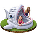 210cm Fish Open Mouth PVC Kids Baby Inflatable Fashion Play Swimming Pool Piscina Children Kids Large Water Accessory S7004