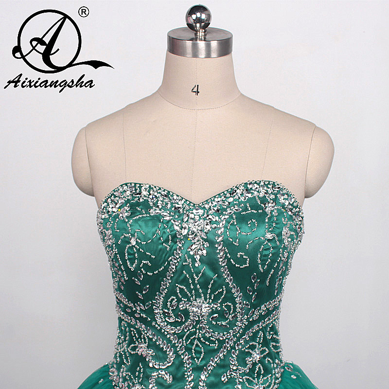 46128c355ce Dark Cyan Bejeweled Bodice Quinceanera Dresses Tulle Ball Gowns New  Debutante Dress for 15 Years Vestido de quinceanera 2017-in Quinceanera  Dresses from ...