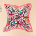 1 pcs 2016 women spring autumn colorful high quality satin square scavers lady's fashion sunscreen silk scarf  shwal 90 cm*90cm