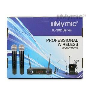 Image 5 - IU 302C UHF 600 700MHz podwójny kanał (pojedyncza częstotliwość) Bodypack + klapa + zestaw słuchawkowy + ręczny mikrofon bezprzewodowy