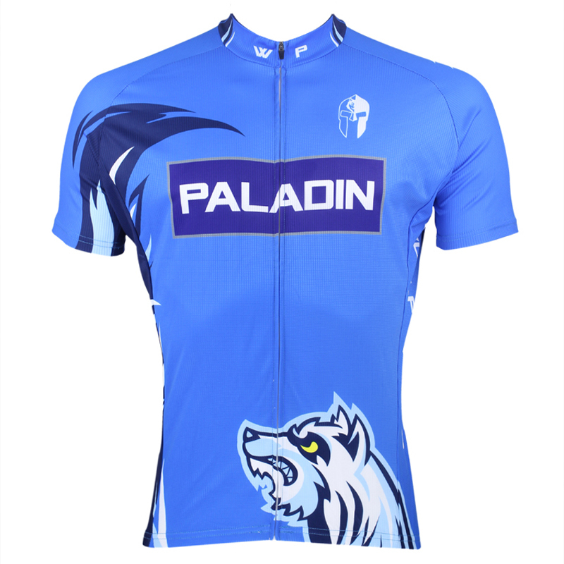 New Men's Cycling Jersey top bike Hombre Blue Bicycle Jersey Snow Wolf Cycling Clothing Breathable Bike Clothes Size S-6XL ILPAL 2016 new men s cycling jerseys top sleeve blue and white waves bicycle shirt white bike top breathable cycling top ilpaladin