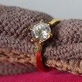 0.6CT Corea Del Sur Estilo Sólido 18 K 750 Anillo de Oro Amarillo precioso Diamante Hembra Anillo de Oro Puro Fina Joyería de la Boda su