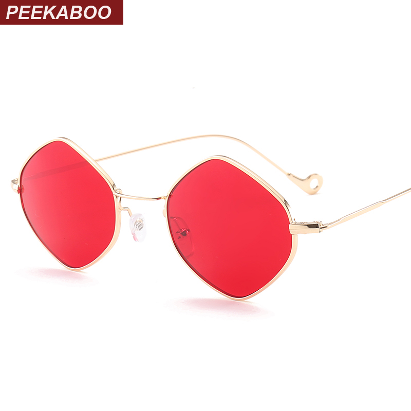 Peekaboo men vintage sunglasses women small frame 2017 ocean purple pink clear blue sunglasses metal frame uv400