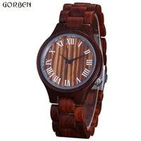 Retro Unique Full Wooden Men Watch Cool Style Bamboo Bracelet Quartz Wrist Watch For Male Clock