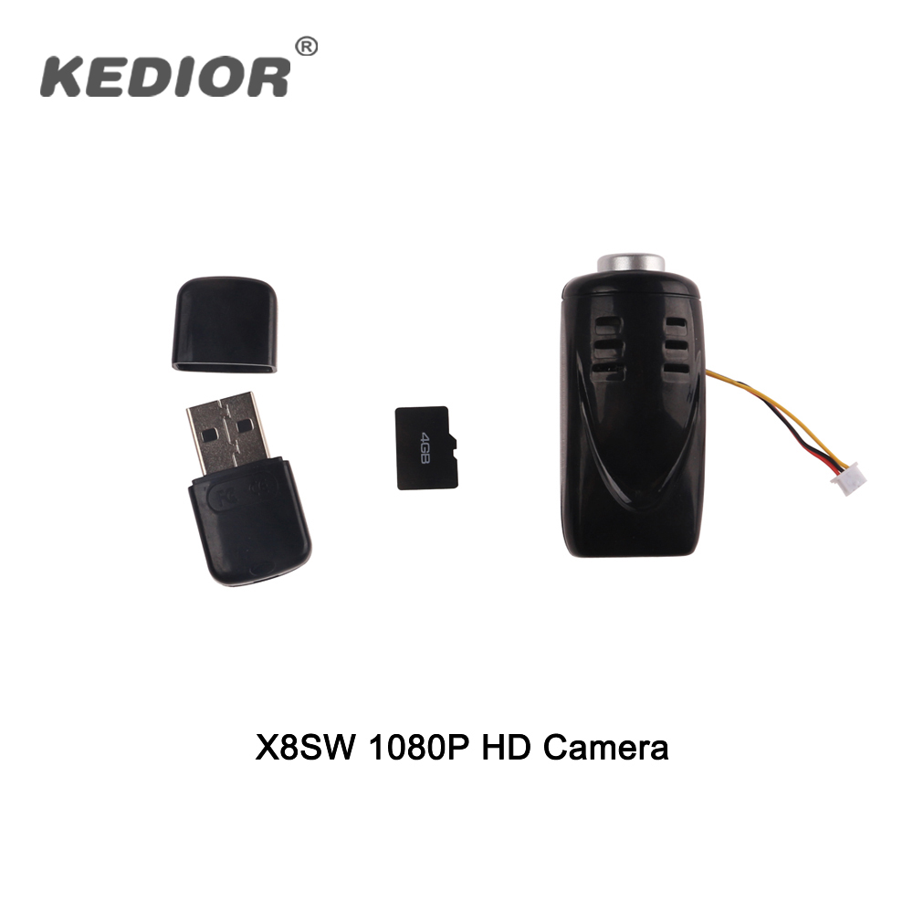 Kedior X8SW RC Quadcopter Drone Spare Parts Video Recorder 1080P HD Camera With 4G Card yizhan i8h 4axis professiona rc drone wifi fpv hd camera video remote control toys quadcopter helicopter aircraft plane toy