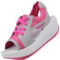 Summer Breathable Female Sandals Platform Lacing Sandals Casual Shoes Women