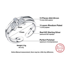 Women Luxury Cubic Zircon Bow Design Sterling Silver 925 Ring
