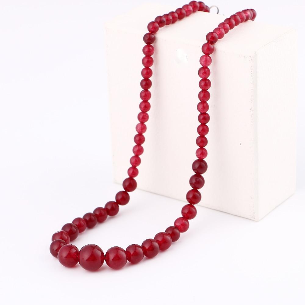 2018 Hot sale Women Brilliant Red Natural Stone Pendant Choker Necklace Delicate Women red Crystal Rock Necklace Quartz Pendant