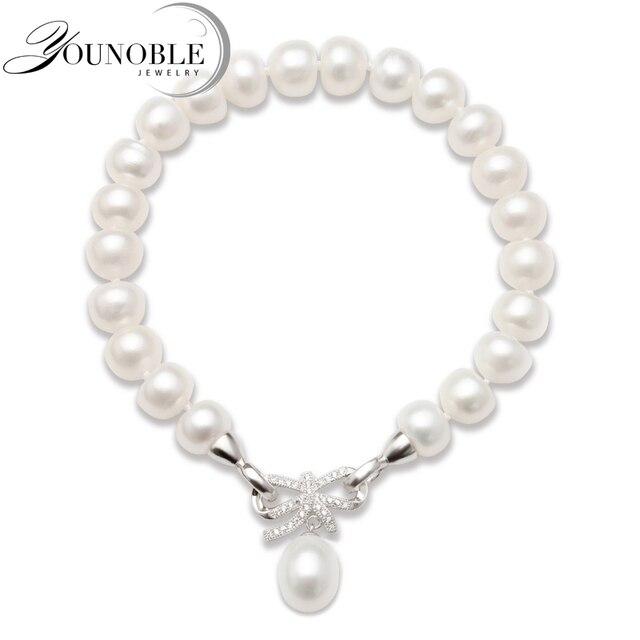 ea1f47671023 Pulsera de perlas de agua dulce cultivada de moda joyería de perlas  naturales para mujer