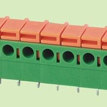 Печатная плата пружинный клеммный блок 7,62 мм шаг, правый угол 142R-7.62, IEC250V15A CE Rohs UL300V10A 22-14AWG