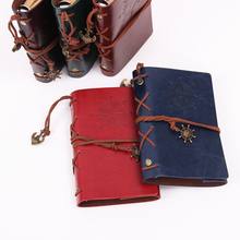 Classic Vintage Leather Kraft Paper Notebooks and Journals Copper Plated Sea Anchor Travel Sketchbook Pirate Diary Notebook