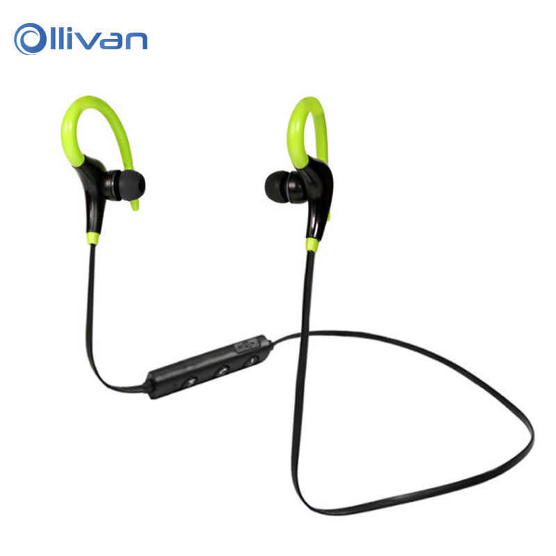 BT-1 Sports Bluetooth Earphones Wireless Stereo Headset Ear hook Sweatproof Hifi Earbud Headphones With Mic for iPhone Android longet bluetooth headphones wireless sports earphones sweatproof headsets aptx hifi 3d stereo with mic for iphone xiaomi