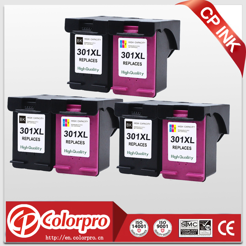 3set (3BK+3C)  Remanufactured cartridge for hp 301XL ink cartridge for HP Deskjet 1000 1050 2000 2050 3000 3050 2pk for hp 61xl remanufactured ink cartridge bk