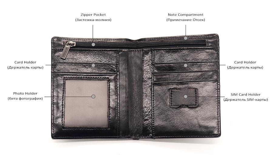 afe33a4ac332 DERI CUZDAN Mens Wallets Bifold Purses Genuine Leather Luxury Purse ...